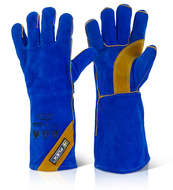 CAT II BLUE GOLD WELDER GLOVE - BFHQW