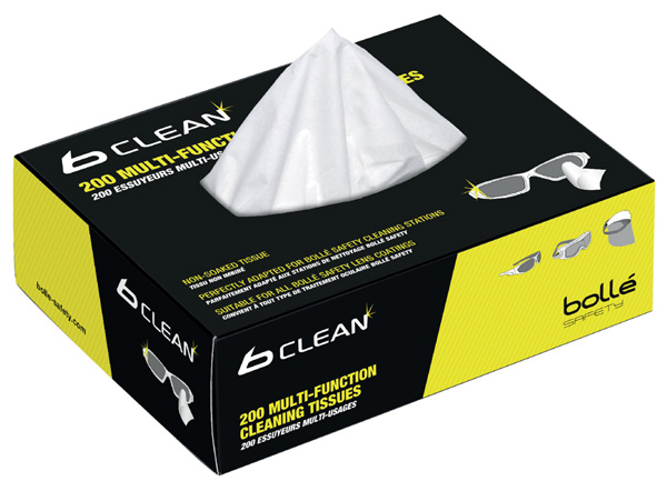 BOLLE BOX OF 200 TISSUES FOR BOB600 - BOB401