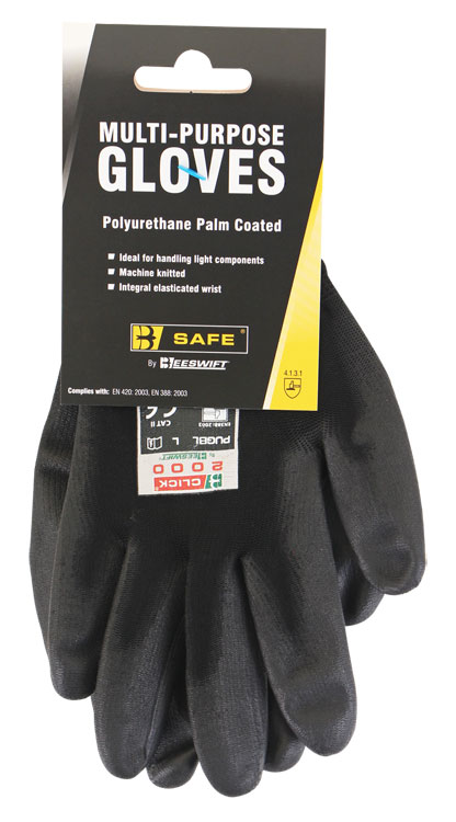 MULTI-PURPOSE PU COATED GLOVE - BS043BL
