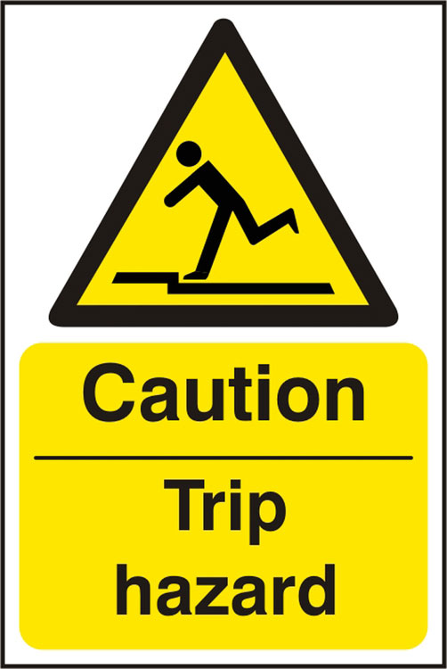 CAUTION TRIP HAZARD SIGN - BSS11053