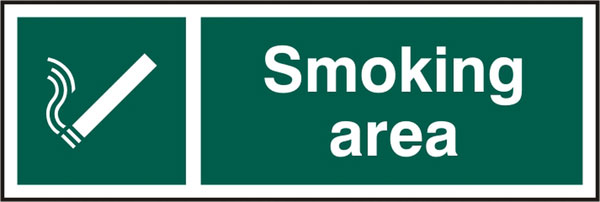 SMOKING AREA SIGN - BSS11903