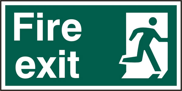 FIRE EXIT SIGN - BSS12129