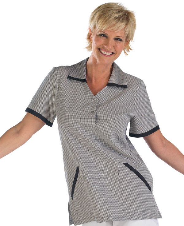 LADIES CHECK TUNIC - CCLCTBL