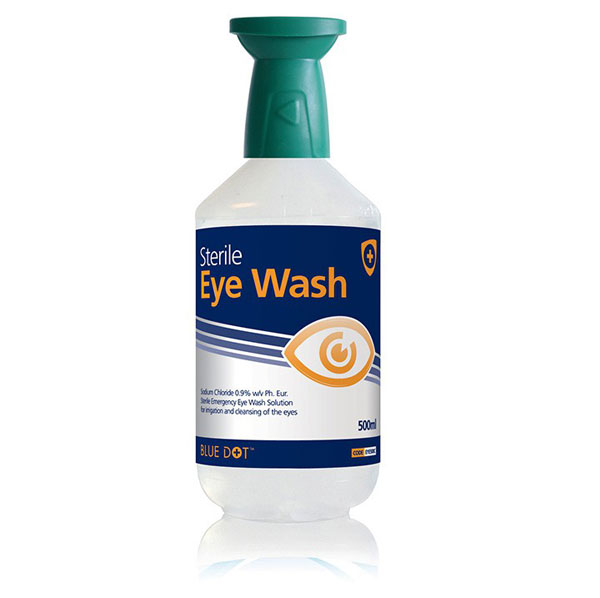 EYEWASH BOTTLE 500ML WITH EYE BATH - CM0730