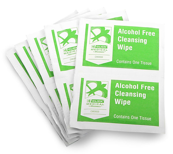 CLICK MEDICAL ALCOHOL FREE WIPES PK 10 - CM0801