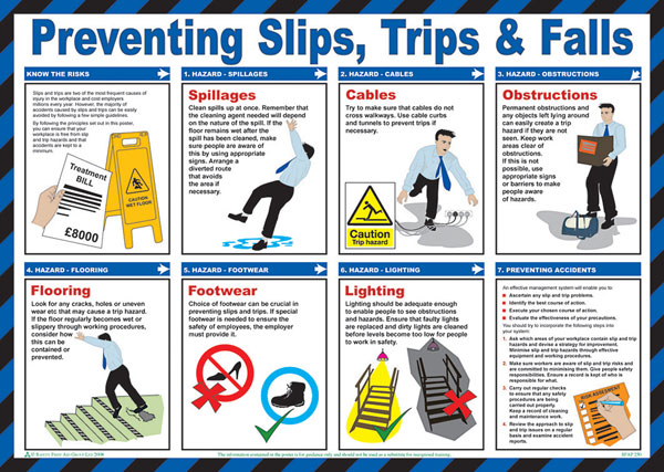 TRIPS AND FALLS POSTER - CM1307