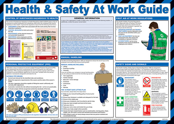 HEALTH AND SAFETY AT WORK POSTER - CM1309