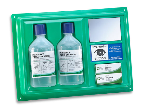 CLICK MEDICAL EYEWASH STATION C/W 2X500ML - CM0720