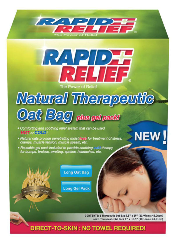 NATURAL THERAPEUTIC OAT BAG C/W GEL PACK (LONG) - RA11240