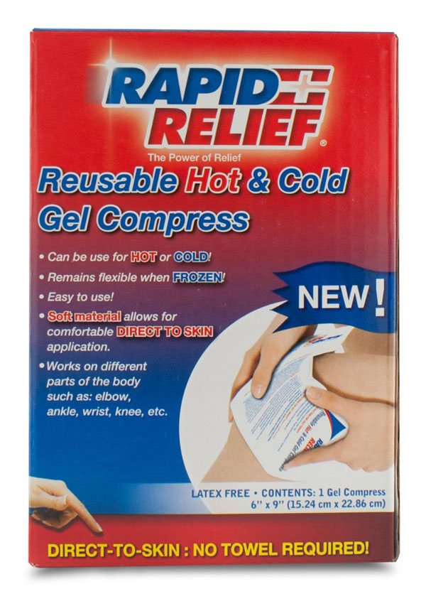REUSABLE HOT/COLD GEL COMPRESS DIRECT TO SKIN - RA11369