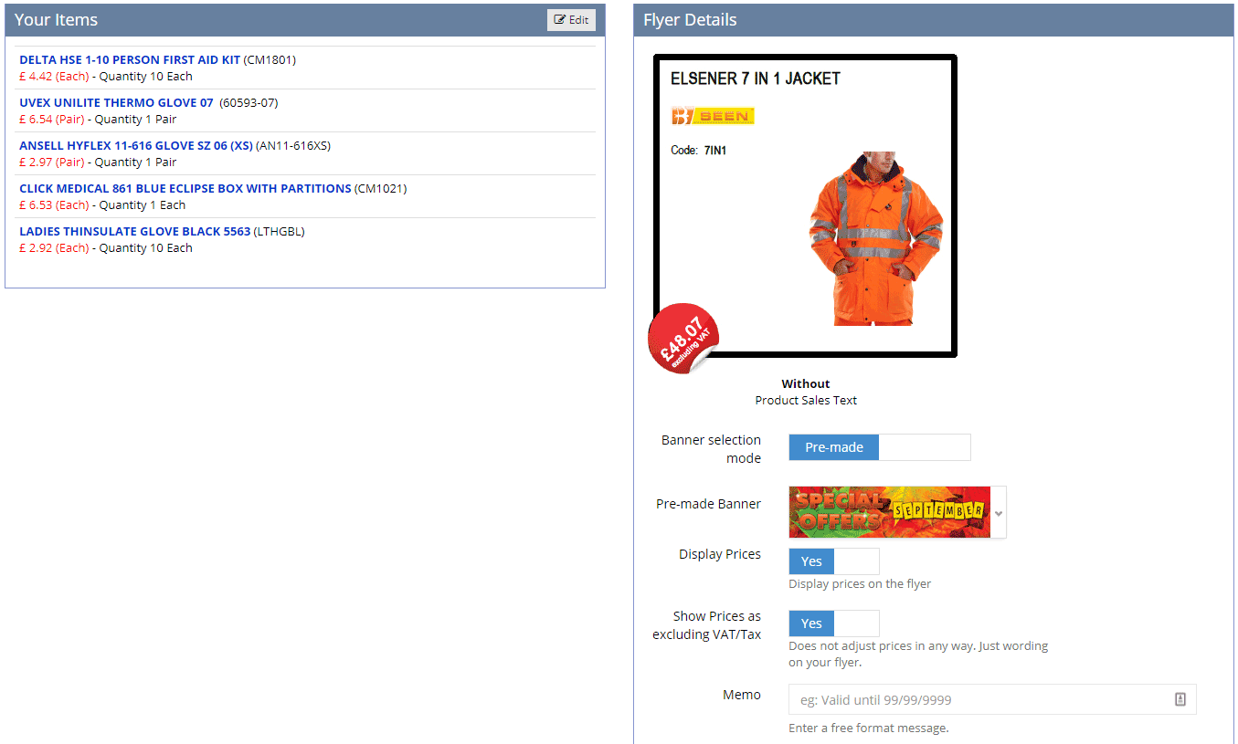 Pricing your items